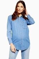 Topshop Womens **Maternity Oversized Shirt - Mid Stone