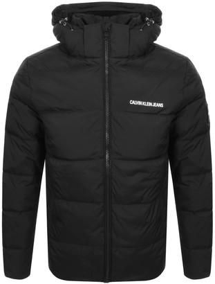 Calvin Klein Jeans Hooded Down Jacket Black