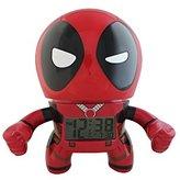 BulbBotz Marvel Deadpool Kids Light Up Alarm Clock | red/black | plastic | 7.5 inches tall | LCD display | boy girl | official