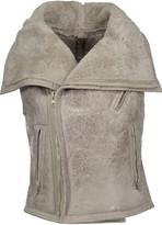 Rick Owens Shearling-trimmed leather vest
