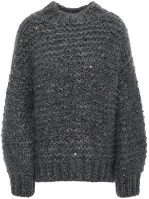 Brunello Cucinelli Sequin-embellished Mohair-blend Sweater