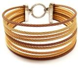 Charriol 18K Yellow Gold Rose Steel Wire 9 Row Bracelet