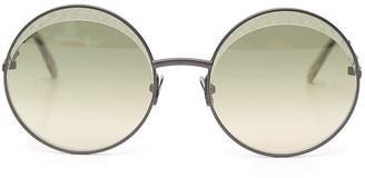 Bottega Veneta Intrecciato Circle Framed Sunglasses