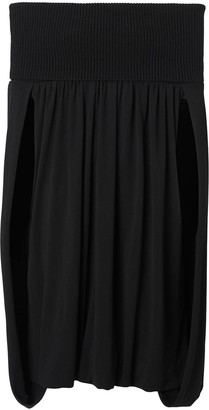 Burberry Off-the-shoulder Wool and Crepe Dress