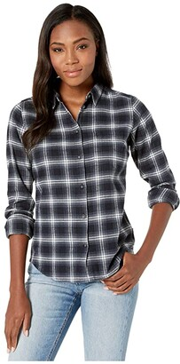 Fjallraven Ovik Flannel Shirt (Acorn) Women's Long Sleeve Button Up