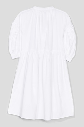 Nasty Gal Womens Tie Can Feel the Love Puff Sleeve Mini Dress - White - 8, White