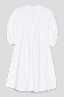 Nasty Gal Womens Tie Can Feel the Love Puff Sleeve Mini Dress - White