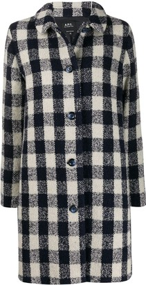 A.P.C. Checked Coat