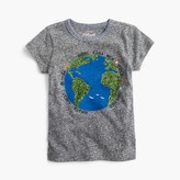 J.Crew Girls' sequin earth T-shirt