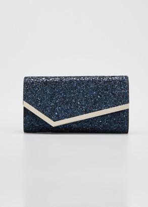 Jimmy Choo Emmie Coarse Glitter Clutch Bag