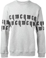 McQ by Alexander McQueen goth logo sweatshirt - men - Cotton - XS