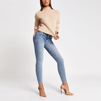 River Island Womens Blue comfy low rise jean
