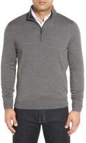 John W. Nordstrom Merino Wool Quarter Zip Sweater (Big)