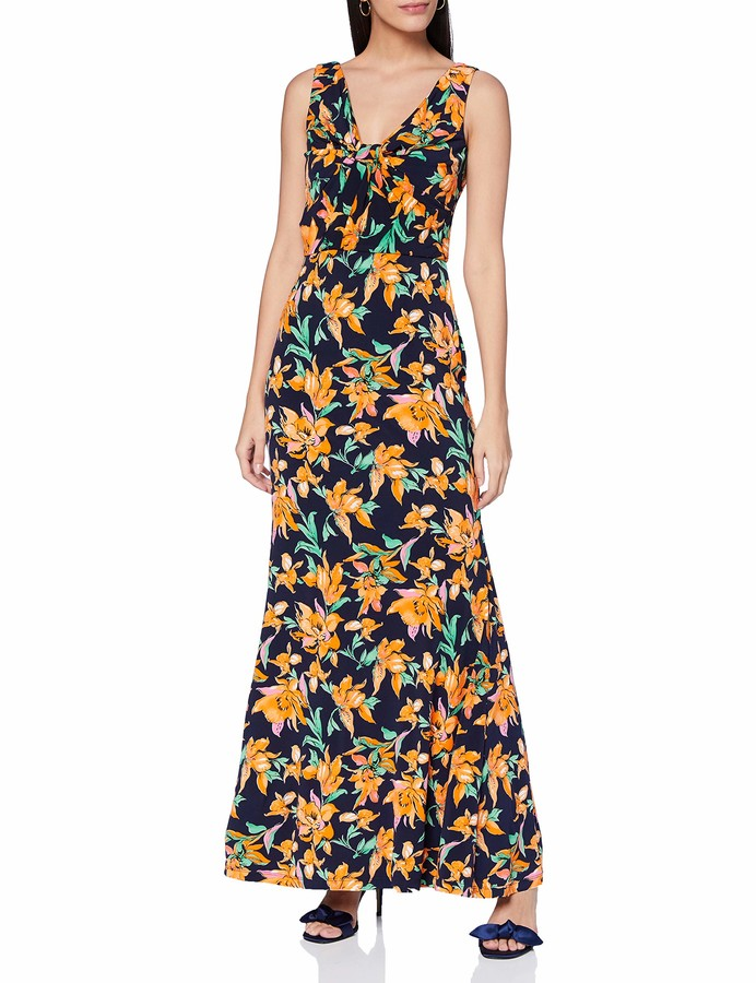 Gina Bacconi Women's Mildred Floral Print Maxi Dress Cocktail