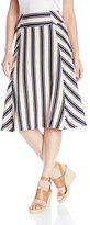 J.o.a. Women's Striped A-Line Skirt