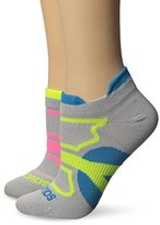 Saucony Women's 2 Pack Elite Dash Superlite Low Cut Double Tab Socks