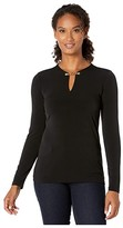 MICHAEL Michael Kors Solid Chain Top (Black) Women's Clothing
