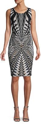 Roberto Cavalli Printed Sleeveless Sheath Dress