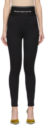 Alexander Wang Black Exposed Zipper Leggings
