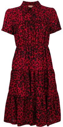 No.21 Leopard Print Tiered Dress