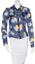 Creatures of the Wind Floral Print Button-Up Top