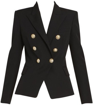 Balmain Six-Button Wool Jacket