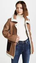 J.o.a. Camel Coat with Shearling