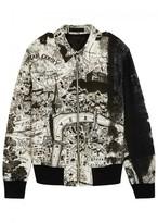 Alexander Mcqueen London-print Wool Blend Bomber Jacket