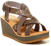 Antelope Strappy Studded Wedge Sandal
