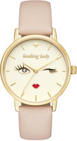 Kate Spade Women's Metro Vachetta Leather Strap Watch 34mm KSW1210