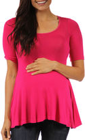 24/7 Comfort Apparel 24-7 COMFORT APPAREL Knit Blouse-Maternity
