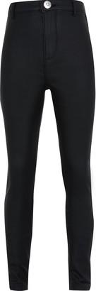 River Island Girls Black coated kaia jeans