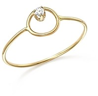 Zoë Chicco 14K Yellow Gold Paris Small Circle Diamond Ring