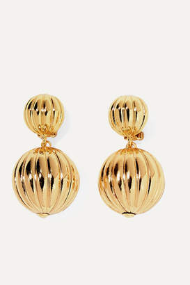 Rebecca De Ravenel Charming Gold-plated Clip Earrings