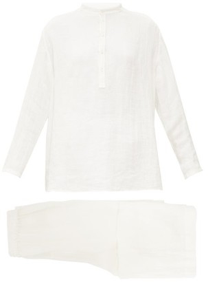 Jil Sander Buttoned Muslin Pyjamas - Ivory