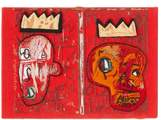 Olympia Le-Tan Olympia Le Tan Basquiat 'red Kings'-embroidered Book Clutch - Womens - Red Multi
