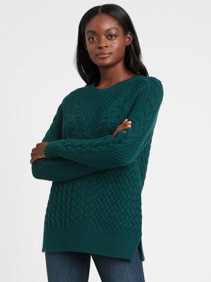 Banana Republic Cable-Knit Sweater Tunic