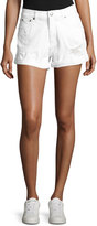 Cheap Monday Donna Distressed Shorts, White