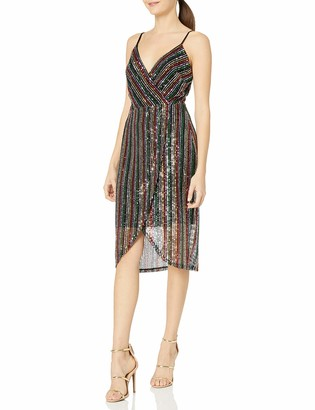 Betsey Johnson Women's Sequin Wrap Dress