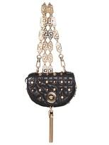 Versace Baroque Studded Nappa Shoulder Bag