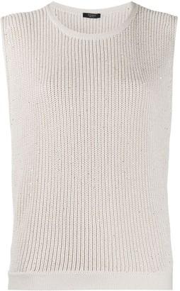 Peserico Embellished Knit Vest