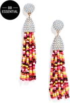 BaubleBar Piñata Tassel Earrings-Maroon/Yellow/Multi