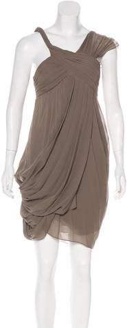 Derek Lam Silk One-Shoulder Draped Dress w/ Tags