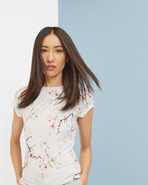 Ted Baker Oriental Blossom T-shirt Light Grey
