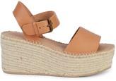 Soludos Minorca Leather Espadrille Platform Sandals