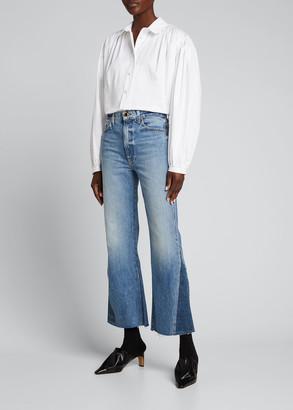 KHAITE Layla Cropped Frayed Jeans