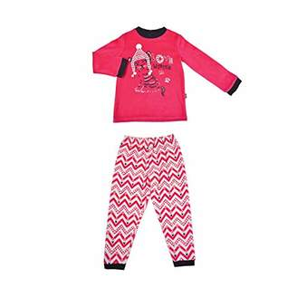 Camilla And Marc Girls Long Sleeve Love Winter Pyjamas - Size 6/8 Years (116/128 cm)