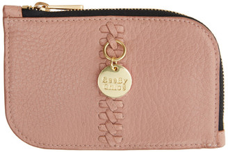 See by Chloe Pink Tilda Zip Card Holder