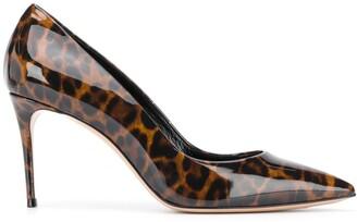 Casadei Leopard Print Leather Pumps