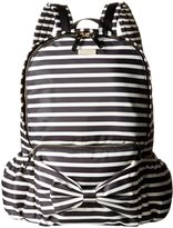 Kate Spade Backpack (Toddler/Kid) - Black Cream Stripe - One Size